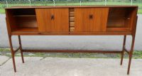 Tall Teak Retro 1960's Serving Sideboard Cabinet